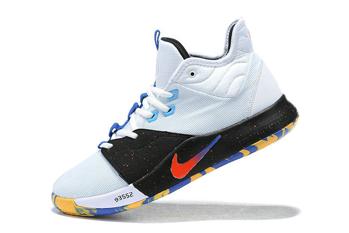 Where To Buy 2019 Nike PG 3 White Black Multi-Color For Sale - www.wholesaleflyknit.com