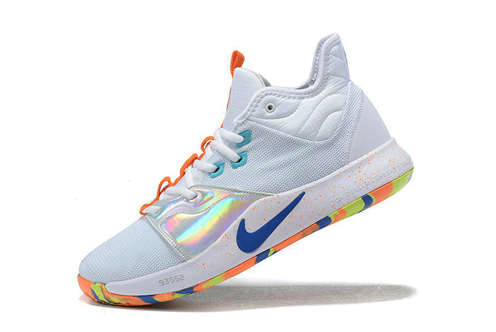 Where To Buy 2019 Nike PG 3 White Silver-Orange-Blue For Sale - www.wholesaleflyknit.com
