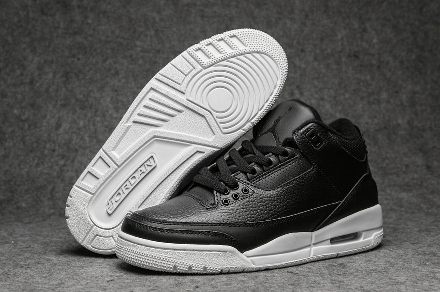 2019 Restock Cheapest Wholesale Nike Air Jordan 3 Leather Black White - www.wholesaleflyknit.com