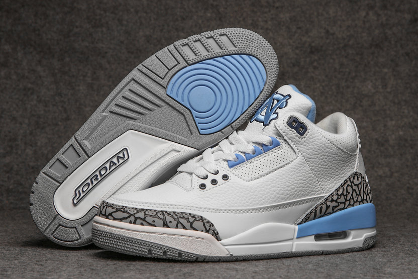 2019 Restock Cheapest Wholesale Nike Air Jordan 3 Light Blue White Grey - www.wholesaleflyknit.com