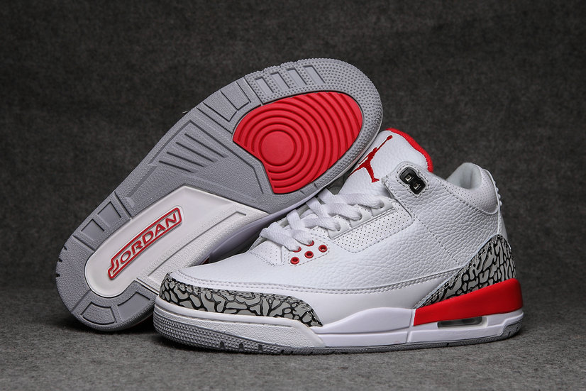 2019 Restock Cheapest Wholesale Nike Air Jordan 3 Red White Grey - www.wholesaleflyknit.com