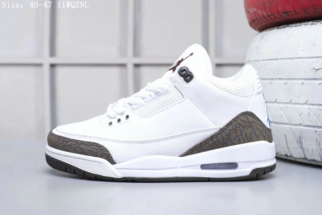 2019 Restock Cheapest Wholesale Nike Air Jordan 3 White Brown - www.wholesaleflyknit.com