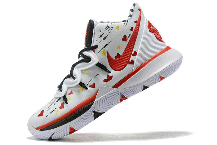 Where To Buy 2019 Sneaker Room x Nike Kyrie 5 White Multi-Color For Sale - www.wholesaleflyknit.com