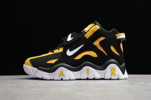 2019 Where To Buy Cheap Wholesale Nike Air Barrage Mid QS Raptors Black Yellow CD9329-002 - www.wholesaleflyknit.com