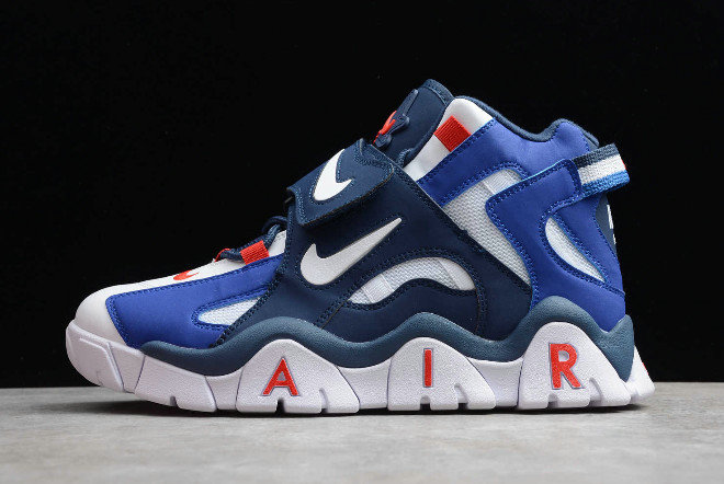 2019 Where To Buy Cheap Wholesale Nike Air Barrage Mid QS White Red-Blue CD9329-005 - www.wholesaleflyknit.com
