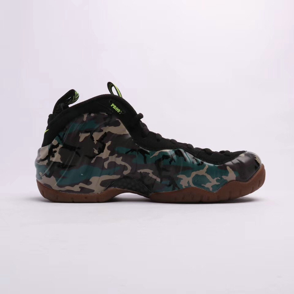 2019 Where To Buy Cheap Wholesale Nike Air Foamposite Pro Premium LE Army Camo - www.wholesaleflyknit.com