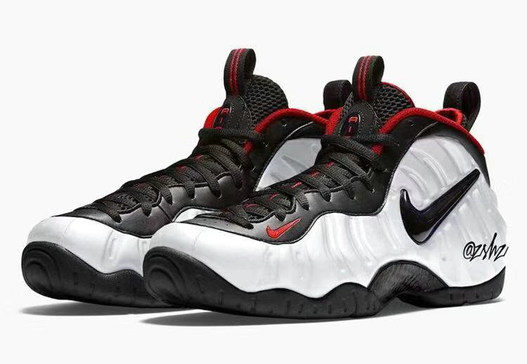 2019 Where To Buy Cheap Wholesale Nike Air Foamposite Pro White Black-University Red 624041-103 - www.wholesaleflyknit.com