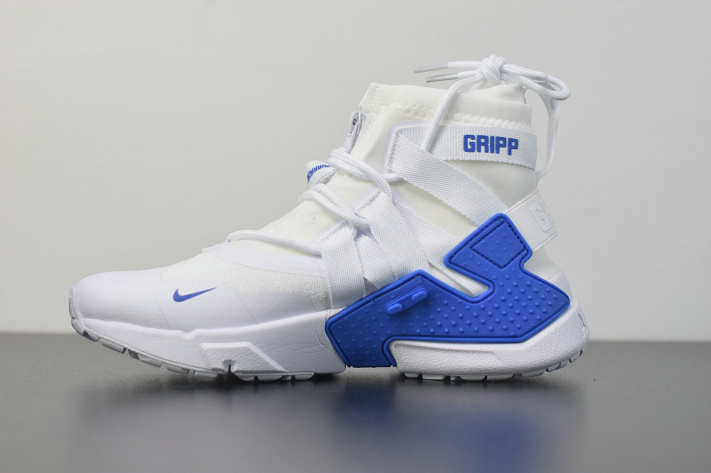 2019 Where To Buy Cheap Wholesale Nike Air Huarache Gripp White Royal Blue AO1730-014 - www.wholesaleflyknit.com