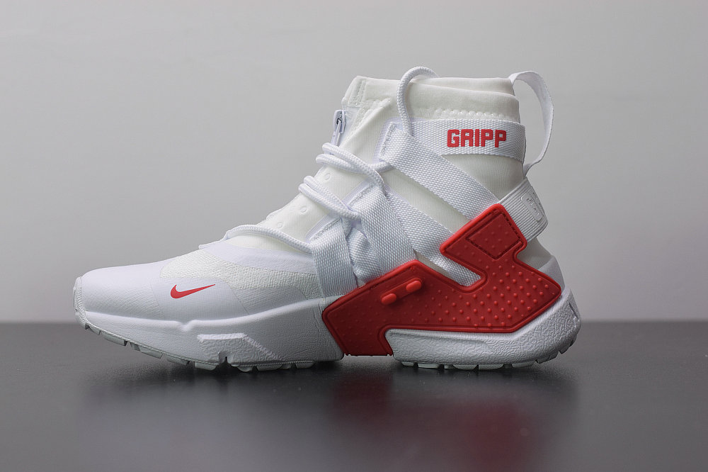 2019 Where To Buy Cheap Wholesale Nike Air Huarache Gripp White University Red AO1730-016 - www.wholesaleflyknit.com