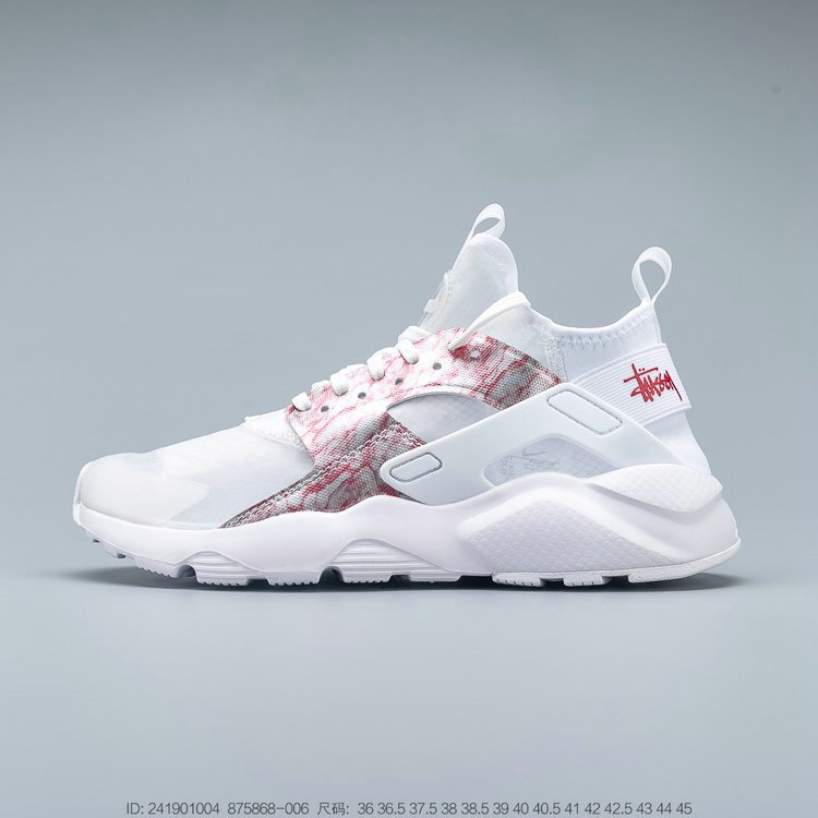 2019 Where To Buy Cheap Wholesale Nike Air Huarache Run Premium Grey Pink White Gris Blanc Rose 875868-006 - www.wholesaleflyknit.com