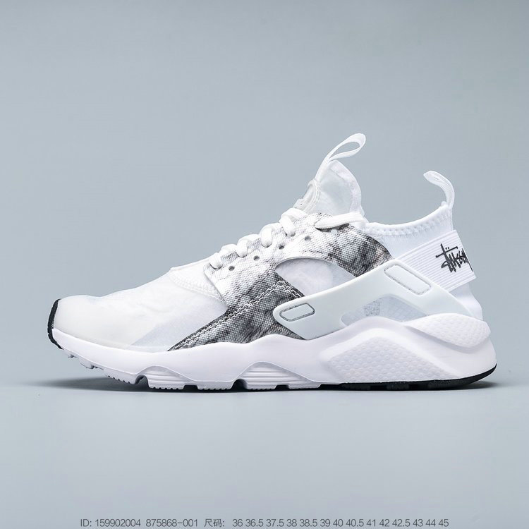 2019 Where To Buy Cheap Wholesale Nike Air Huarache Run Premium Grey White Black Gris Blanc Noir 875868-001 - www.wholesaleflyknit.com
