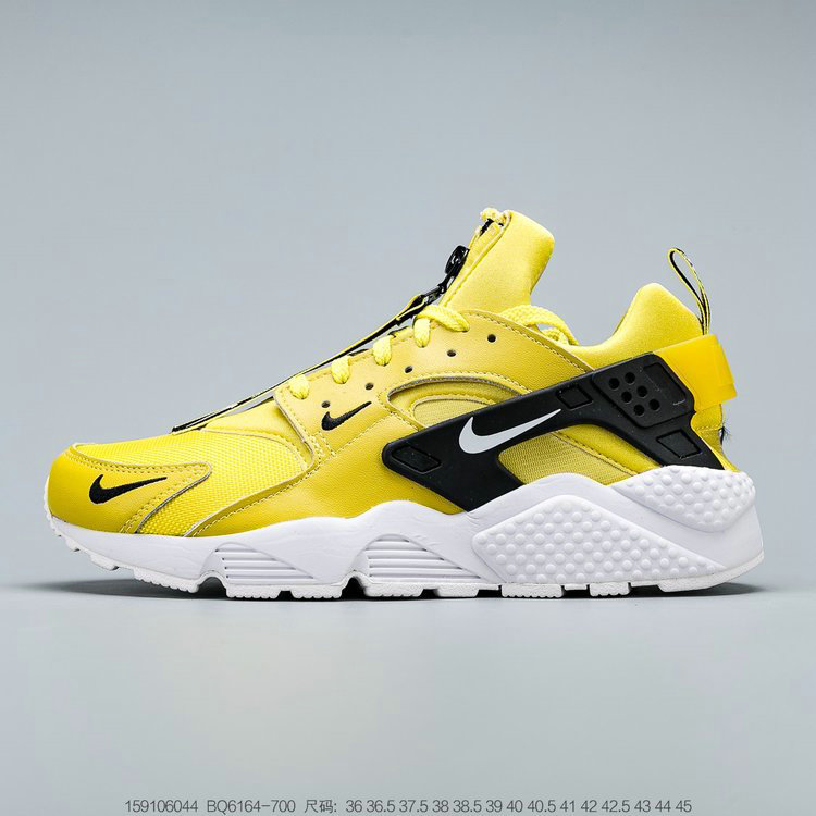 2019 Where To Buy Cheap Wholesale Nike Air Huarache Run QS Bright Citron White Black Clair Noir Blanc BQ6164-700 - www.wholesaleflyknit.com