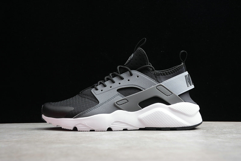 2019 Where To Buy Cheap Wholesale Nike Air Huarache Run Ultra EP Black Light Grey White Noir Gris Clair Blanc 859594-010 - www.wholesaleflyknit.com