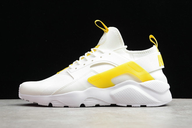 2019 Where To Buy Cheap Wholesale Nike Air Huarache Ultra Suede ID White Light Yellow 847569-994 - www.wholesaleflyknit.com