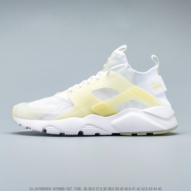 2019 Where To Buy Cheap Wholesale Nike Air Huarache Ultra Suede ID White Yellow Blanc Jaune 875868-007 - www.wholesaleflyknit.com