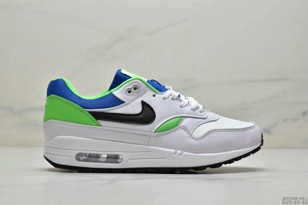 2019 Where To Buy Cheap Wholesale Nike Air Max 1 87 Apple Green Blue Black White - www.wholesaleflyknit.com