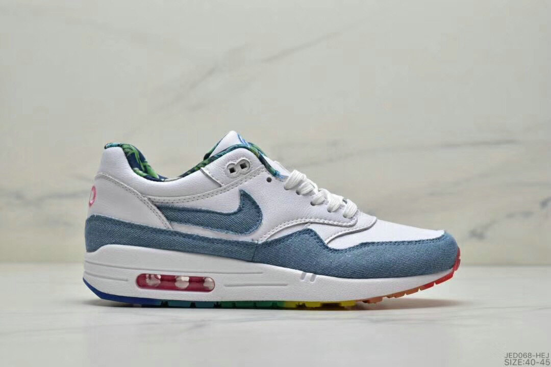 2019 Where To Buy Cheap Wholesale Nike Air Max 1 87 Light Blue White - www.wholesaleflyknit.com