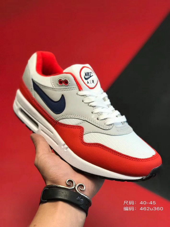 2019 Where To Buy Cheap Wholesale Nike Air Max 1 87 University Red Black Grey White - www.wholesaleflyknit.com