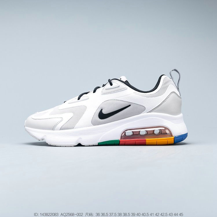 2019 Where To Buy Cheap Wholesale Nike Air Max 200 Vast Grey Black White Gris Infini Blanc Noir AQ2568-002 - www.wholesaleflyknit.com