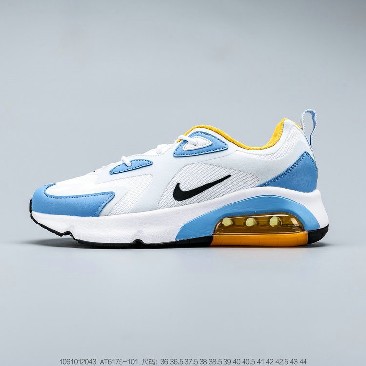 2019 Where To Buy Cheap Wholesale Nike Air Max 200 White Black Half Blue Blanc Mi-Bleu Noir AT6175-101 - www.wholesaleflyknit.com