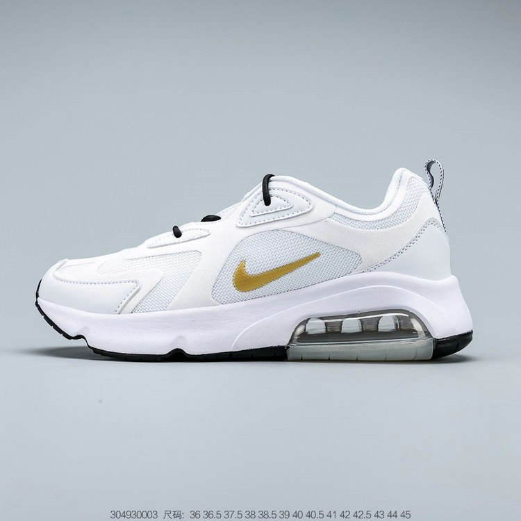 2019 Where To Buy Cheap Wholesale Nike Air Max 200 White Metallic Gold AT6175-102 - www.wholesaleflyknit.com