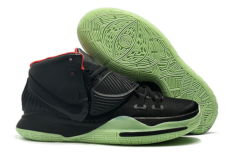 2019 Where To Buy Cheap Wholesale Nike Kyrie 6 Black Red Green Glow In The Dark - www.wholesaleflyknit.com