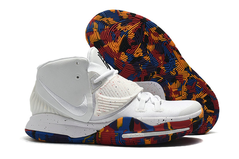 2019 Where To Buy Cheap Wholesale Nike Kyrie 6 White Colorful Sole - www.wholesaleflyknit.com