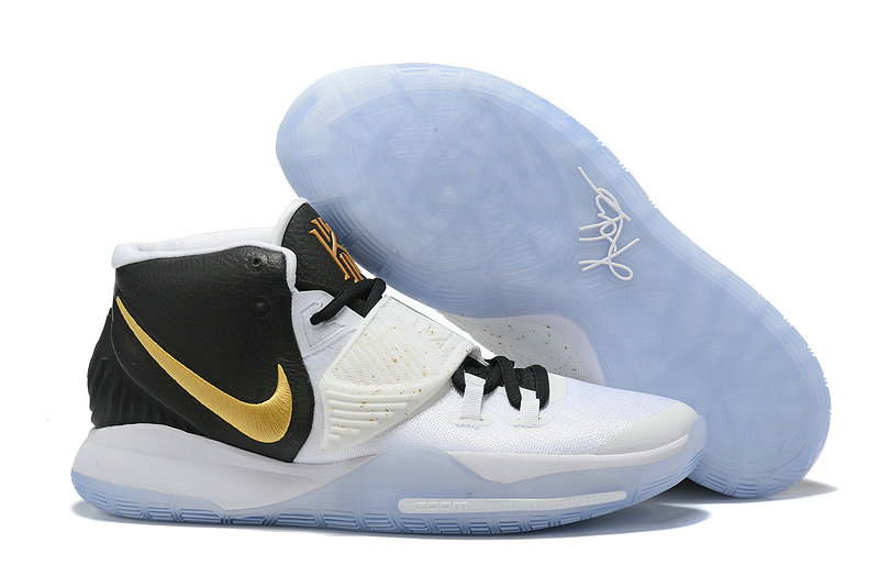 2019 Where To Buy Cheap Wholesale Nike Kyrie 6 White Gold Black - www.wholesaleflyknit.com