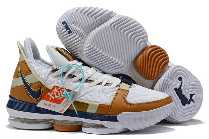 2019 Where To Buy Cheap Wholesale Nike LeBron 16 Air Trainer White Midnight Navy-Ginger CD7089-100 - www.wholesaleflyknit.com