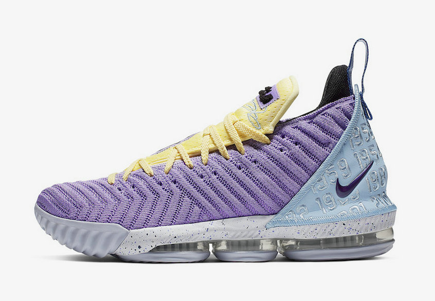 2019 Where To Buy Cheap Wholesale Nike LeBron 16 Heritage Atomic Violet Bicycle Yellow-Half Blue CK4765-500 - www.wholesaleflyknit.com
