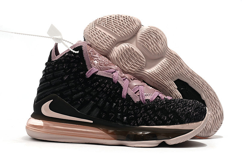 2019 Where To Buy Cheap Wholesale Nike LeBron 17 Black Grey-Pink - www.wholesaleflyknit.com