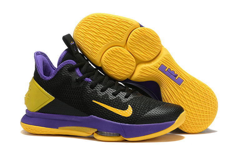 2019 Where To Buy Cheap Wholesale Nike LeBron Witness 4 Black Yellow Purple  - www.wholesaleflyknit.com