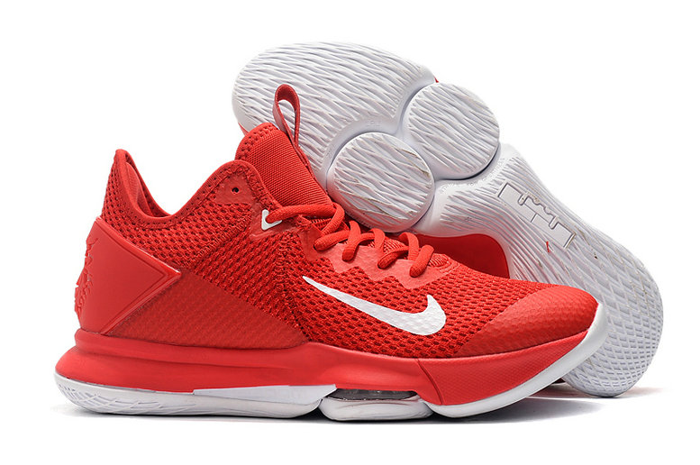 2019 Where To Buy Cheap Wholesale Nike LeBron Witness 4 University Red White - www.wholesaleflyknit.com