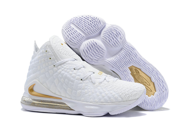 2019 Where To Buy Cheap Wholesale Nike Lebron 17 All White Golden - www.wholesaleflyknit.com