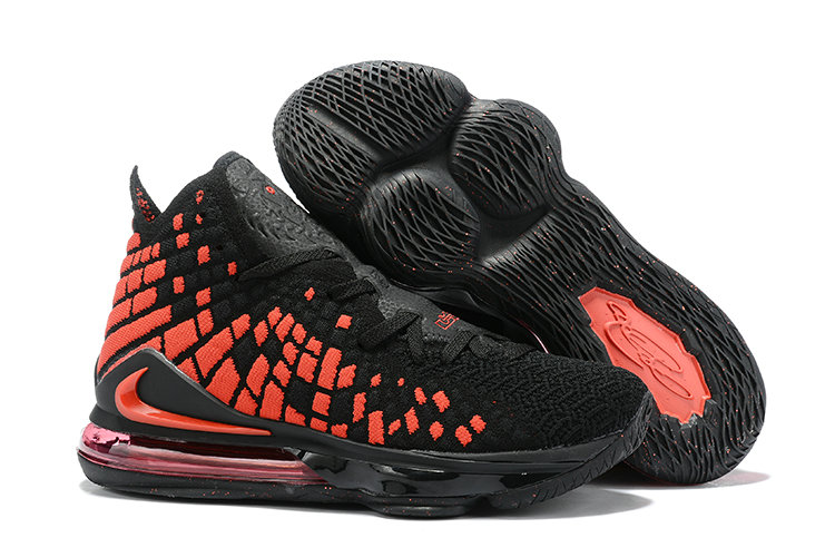 2019 Where To Buy Cheap Wholesale Nike Lebron 17 Black Bright Crimson - www.wholesaleflyknit.com