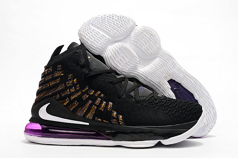 2019 Where To Buy Cheap Wholesale Nike Lebron 17 Black Purple Gold - www.wholesaleflyknit.com