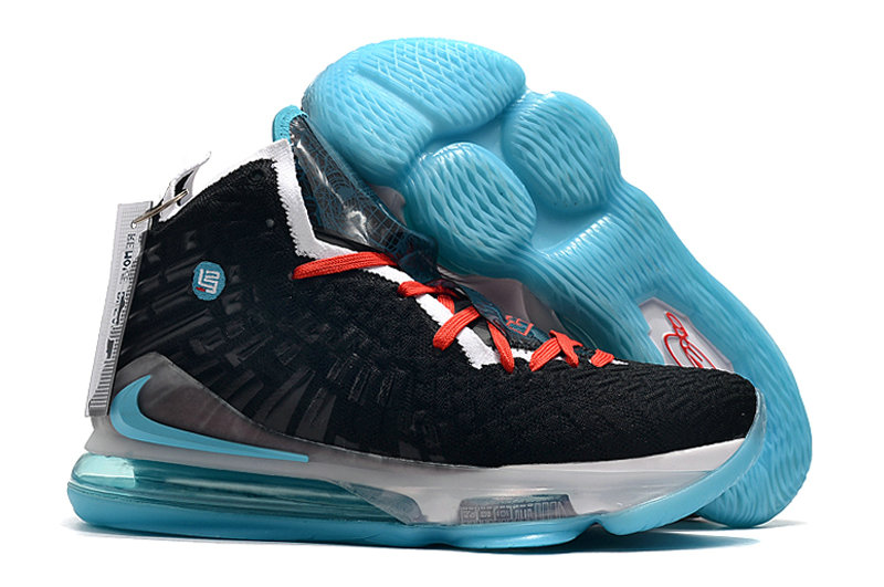 2019 Where To Buy Cheap Wholesale Nike Lebron 17 Black White University Red Blue - www.wholesaleflyknit.com