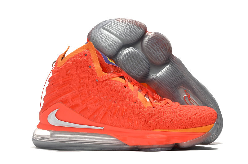 2019 Where To Buy Cheap Wholesale Nike Lebron 17 Red Orange White - www.wholesaleflyknit.com