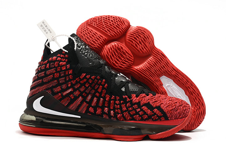 2019 Where To Buy Cheap Wholesale Nike Lebron 17 University Red White Black - www.wholesaleflyknit.com