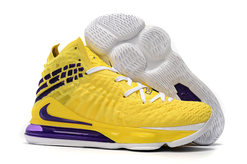 2019 Where To Buy Cheap Wholesale Nike Lebron 17 Yellow Purple - www.wholesaleflyknit.com