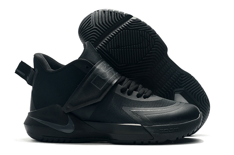 2019 Where To Buy Cheap Wholesale Nike Lebron Soldier 12 Triple Black - www.wholesaleflyknit.com