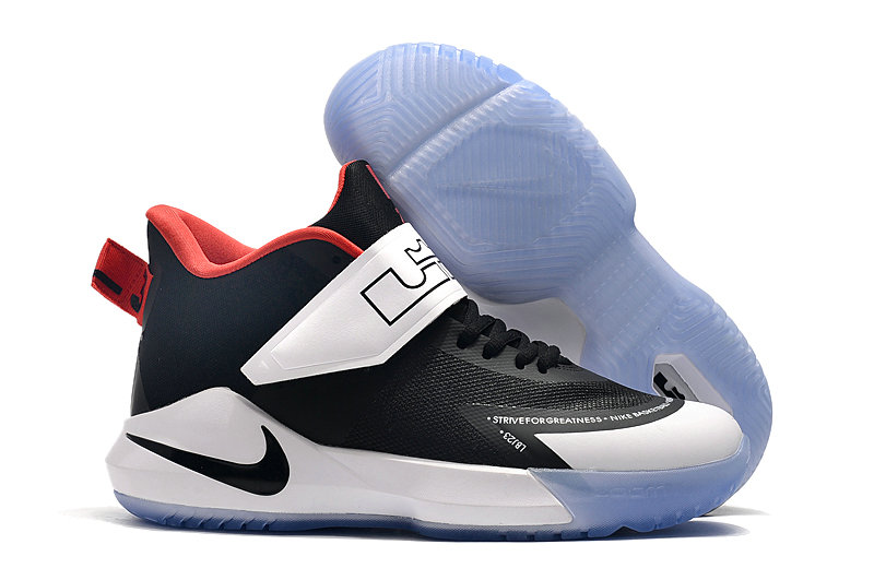 2019 Where To Buy Cheap Wholesale Nike Lebron Soldier 12 White Black Navy Blue Red - www.wholesaleflyknit.com