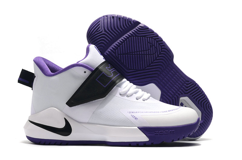 2019 Where To Buy Cheap Wholesale Nike Lebron Soldier 12 White Purple Black - www.wholesaleflyknit.com