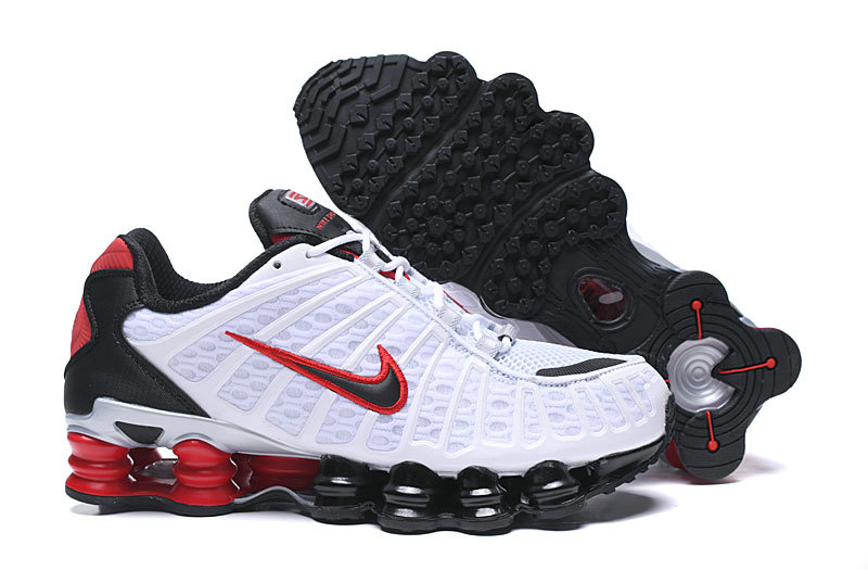 2019 Where To Buy Cheap Wholesale Nike Shox TL White Red Black - www.wholesaleflyknit.com