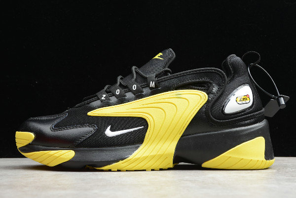 2019 Where To Buy Cheap Wholesale Nike Zoom 2K 2000 Black White-Dynamic Yellow AO0269-006 - www.wholesaleflyknit.com