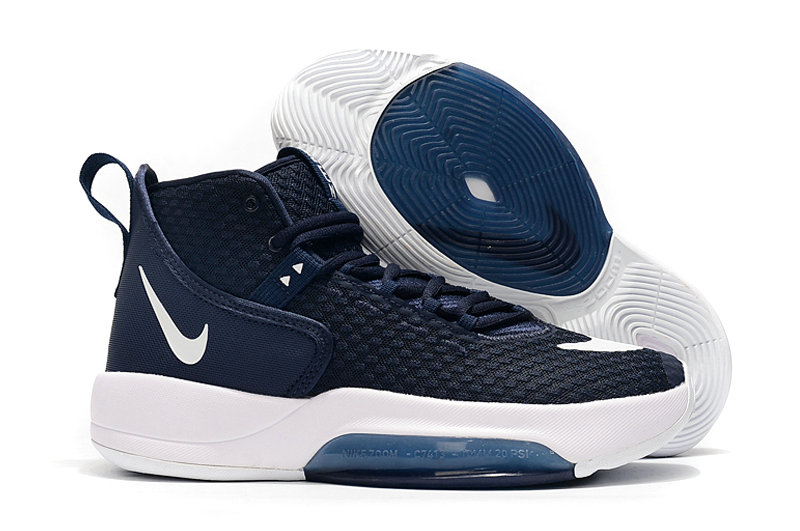 2019 Where To Buy Cheap Wholesale Nike Zoom Rise Navy Blue White - www.wholesaleflyknit.com