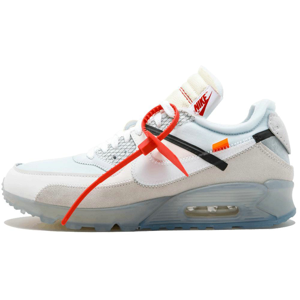 2019 Where To Buy Cheap Wholesale OFF White x Nike Air Max 90 White Muslin White Sail AA7293-100 - www.wholesaleflyknit.com
