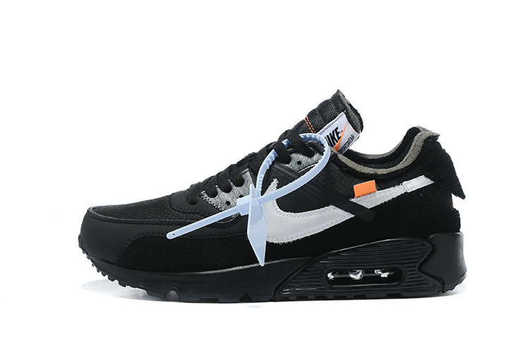 2019 Where To Buy Cheap Wholesale Off White X Nike Air Max 90 Black Silver AA7293-100 - www.wholesaleflyknit.com