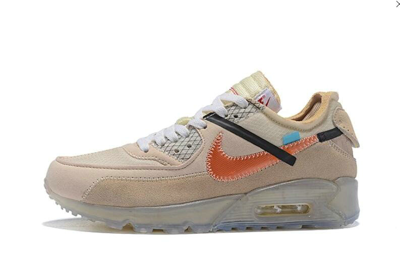 2019 Where To Buy Cheap Wholesale Off White X Nike Air Max 90 Desert Ore OW AA7293-105 - www.wholesaleflyknit.com