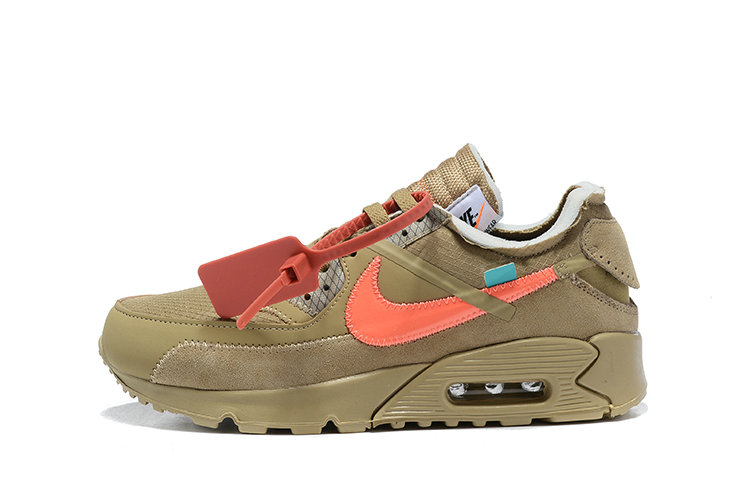 2019 Where To Buy Cheap Wholesale Off White X Nike Air Max 90 Desert Ore OW AA7293-200 - www.wholesaleflyknit.com